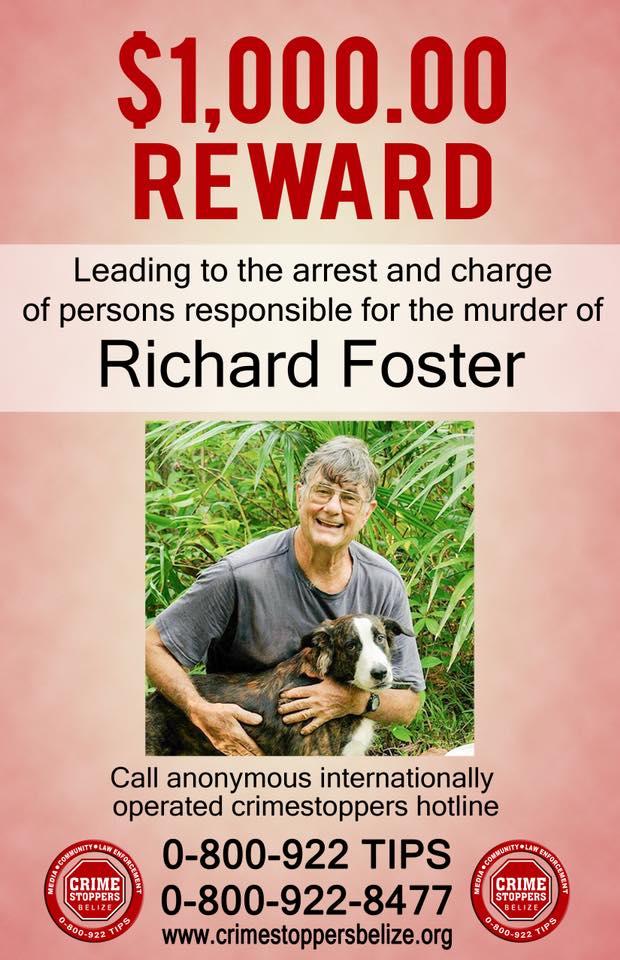 REWARD: For information about murder of Richard Foster