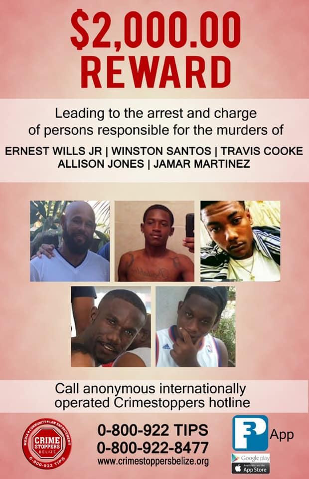 REWARD: For information about murders of 5 men