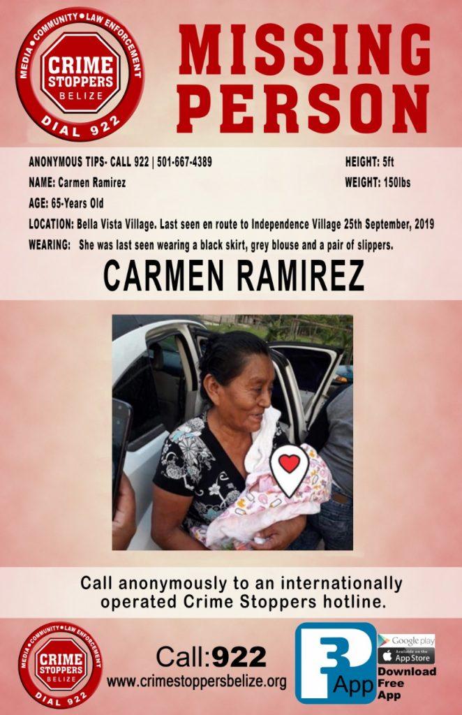 MISSING PERSON: Carmen Ramirez