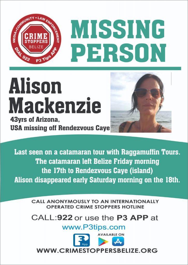 MISSING PERSON: Alison Mackenzie