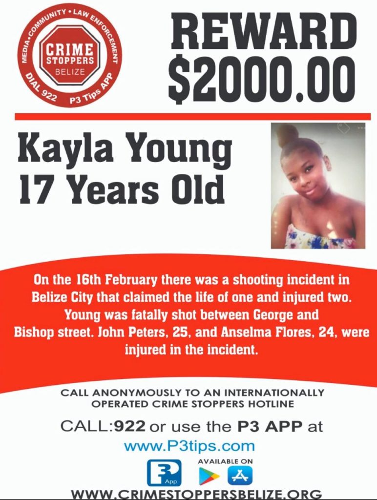 REWARD: For information about the murder of Kayla Young