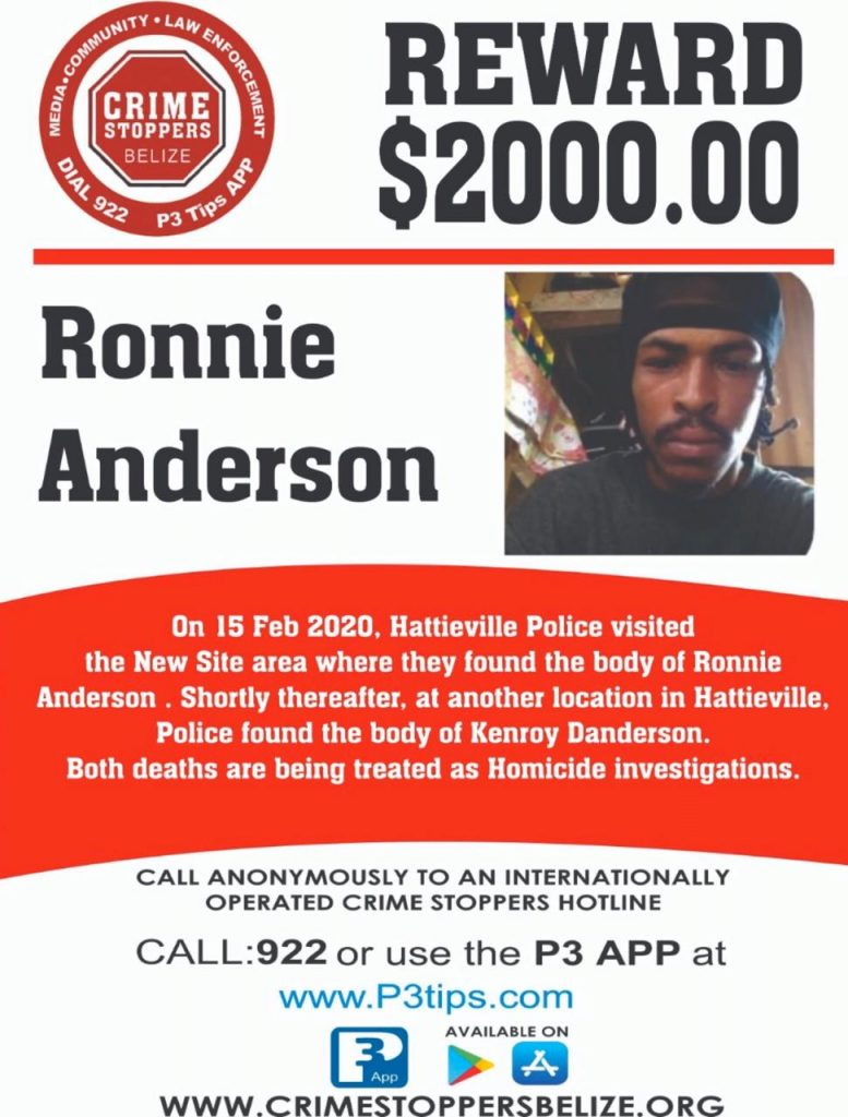 REWARD: For information about the murder of Ronnie Anderson
