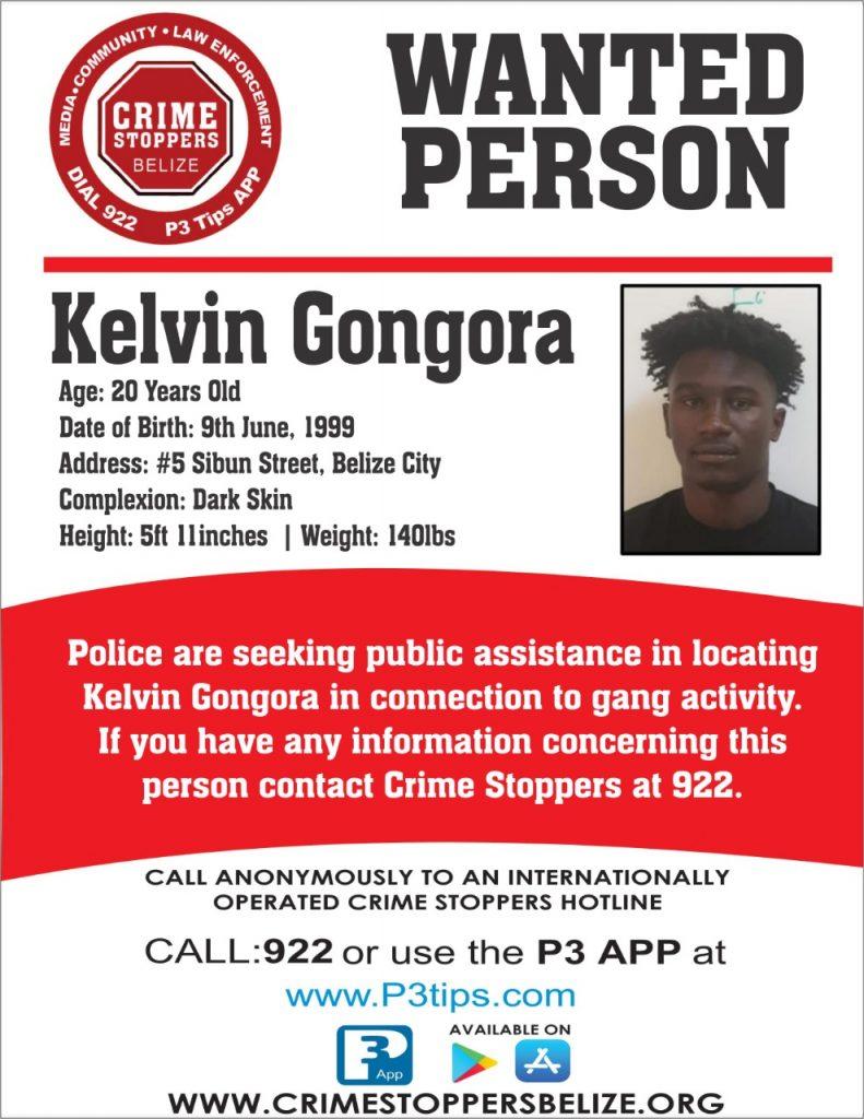 WANTED: Kelvin Gongora