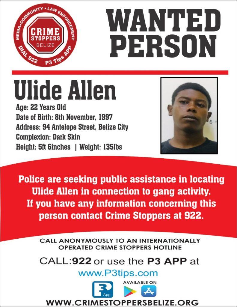 WANTED: Ulide Allen