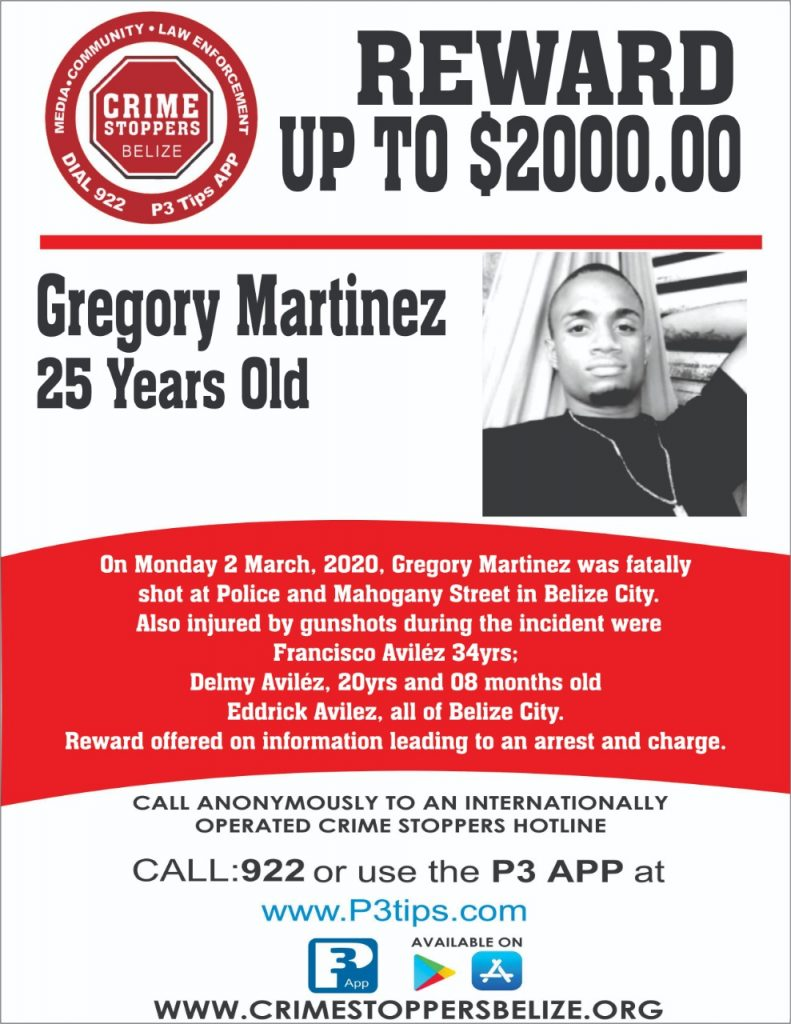 REWARD: For information about the murder of Gregory Martinez