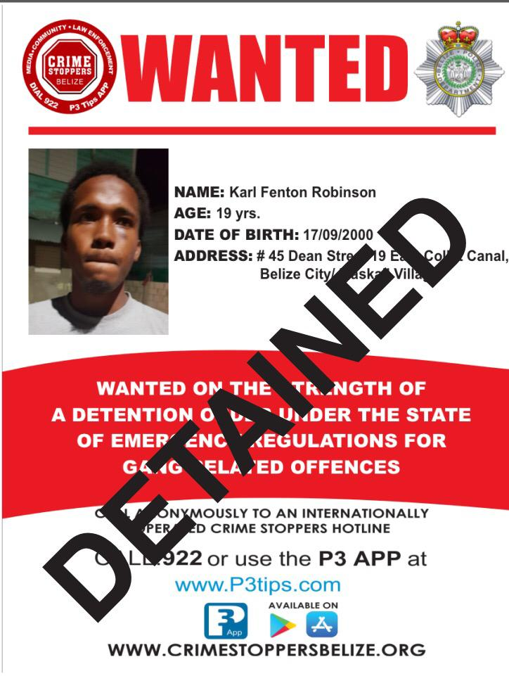 DETAINED: Karl Fenton Robinson
