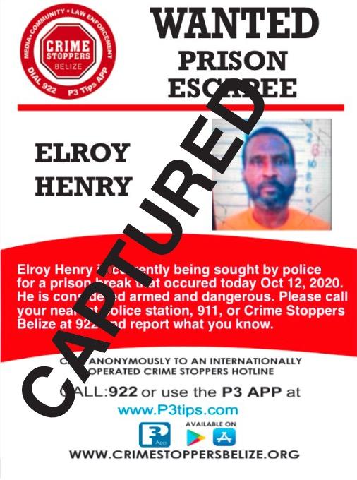 CAPTURED: Elroy Henry